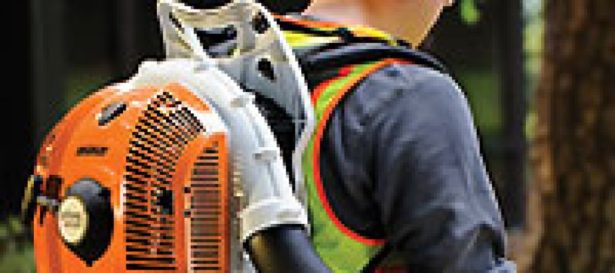 The Stihl BR 350 Backpack Blower