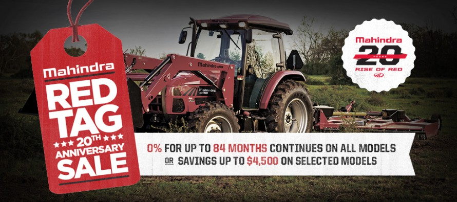 Mahindra Continues Celebration with Red Tag Sale
