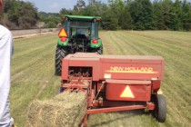 Hay Balers in Action