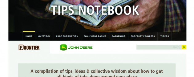John Deere and Frontier Equipment Introduce TipsNotebook.com