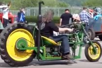 Check Out This Custom John Deere Motorcycle, Complete With A Tractor Tire